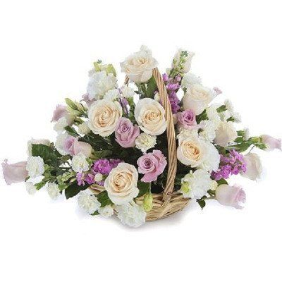 Pastel Rose Basket
