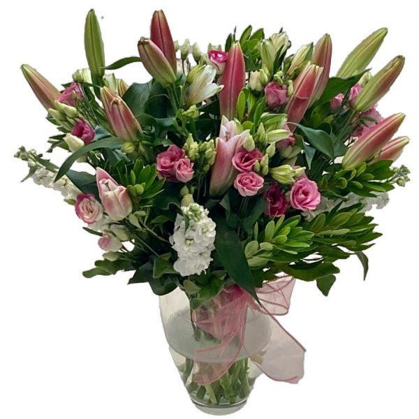Pink Lily Bonanza Vase