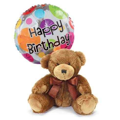 Teddy Bear and Birthday Balloon Gift