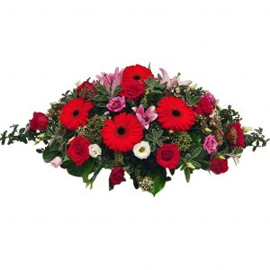 Memory Lane– Funeral Flowers Westcliff – A Double Ended Funeral Spray filled with an assortment of Beautiful Roses, Gerberas, Lilies & Lisianthus.