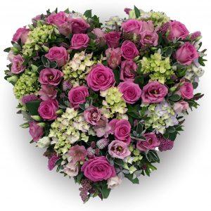 Hydrangea Heart Funeral Tribute