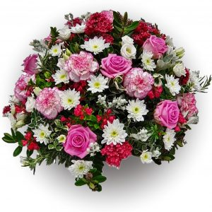 Pink & White Funeral Posy