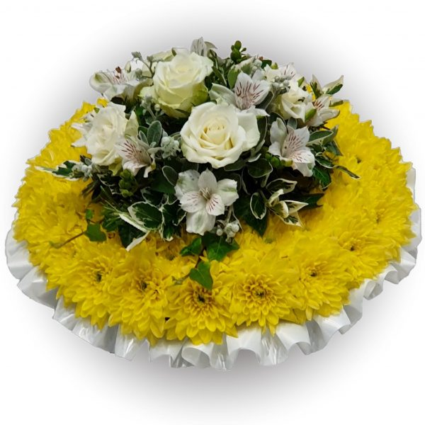 White Rose Posy Pad