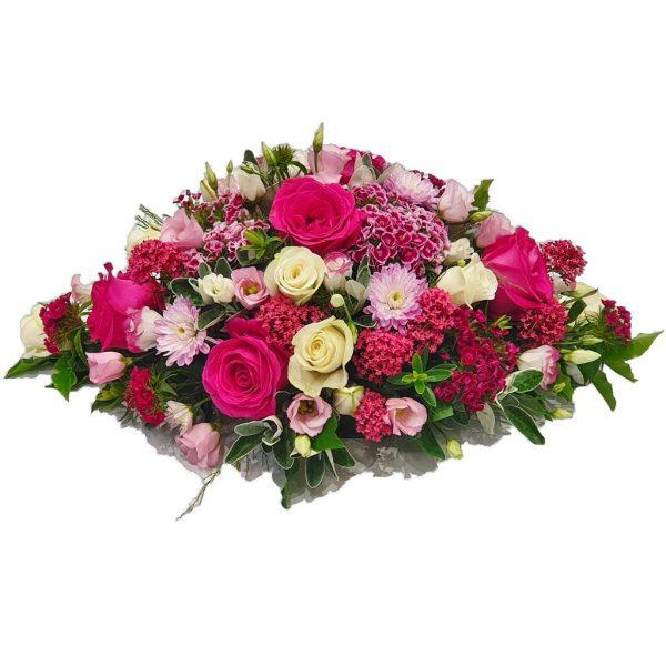 Crimson Rose Funeral Spray