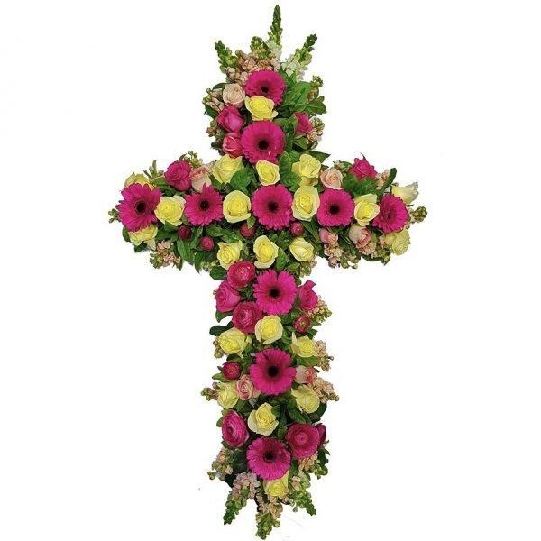 Gerbera Funeral Cross