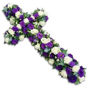 Purple Haze Funeral Cross