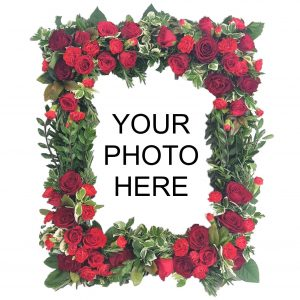 Photo Frame - A personal Funeral Tribute of a Stunning Photo Frame with a favourite photo of your loved one surrounded by Beautiful Flowers & Foliage.