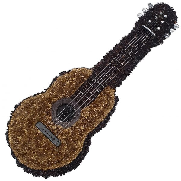 Guitar - Funeral Tribute - A wonderful Chrysanthemum based Guitar Funeral Tribute complete with Strings & Frets. Funeral Flowers Leigh on Sea